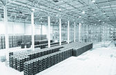 Big constitution for storage of finished goods at a factory on manufacture of mineral water — ストック写真