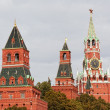 View of towers of the Moscow Kremlin — Stock Photo