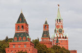 View of towers of the Moscow Kremlin — Stockfoto