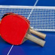 Two table tennis or ping pong rackets — Stock Photo