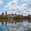 Novodevichy Convent in Moscow in the spring — Stockfoto