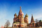 St. moskova'da basil katedrali — Stok fotoğraf