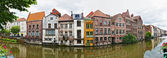 Channel in center of Ghent, Belgium — Stok fotoğraf