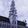 Town hall tower in Brussels close up, it is tinted — Stock Photo
