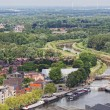View of the city of Malines (Mechelen) from height of bird's flight, Belgium — Stock Photo