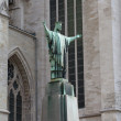 Statue at Sacred Rumold's cathedral in Malines, Belgium. It is entered in the list the world heritage of UNESCO — Stock Photo
