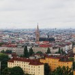 View of Vienna from big wheel height in park Prater - Stock Photo