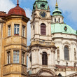 Prague, St. Mikulash's church (St. Nikolay) — Foto de Stock
