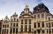 Ancient buildings in the center of Brussels, Belgium — Stock Photo