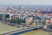 View of the city of Budapest, the capital of Hungary, from height of bird's flight — Stock Photo