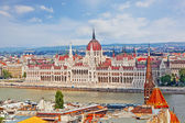 Hungarian Parliament Building is the seat of the National Assembly of Hungary, one of Europe's oldest legislative buildings — Stock Photo