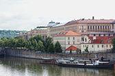 View of Vltava River Embankment in Prague, the Czech republic — Stock Photo