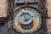 Old astronomical clock in the center square of Prague, Czech Republic — Stock Photo