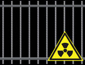 Grate Radioactive Sign — Vector de stock