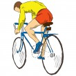Athlete bicyclist — Stock Vector