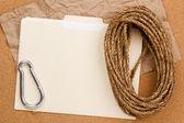 Seil und ordner — Stockfoto