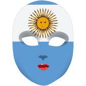 Mask Argentina — 图库矢量图片