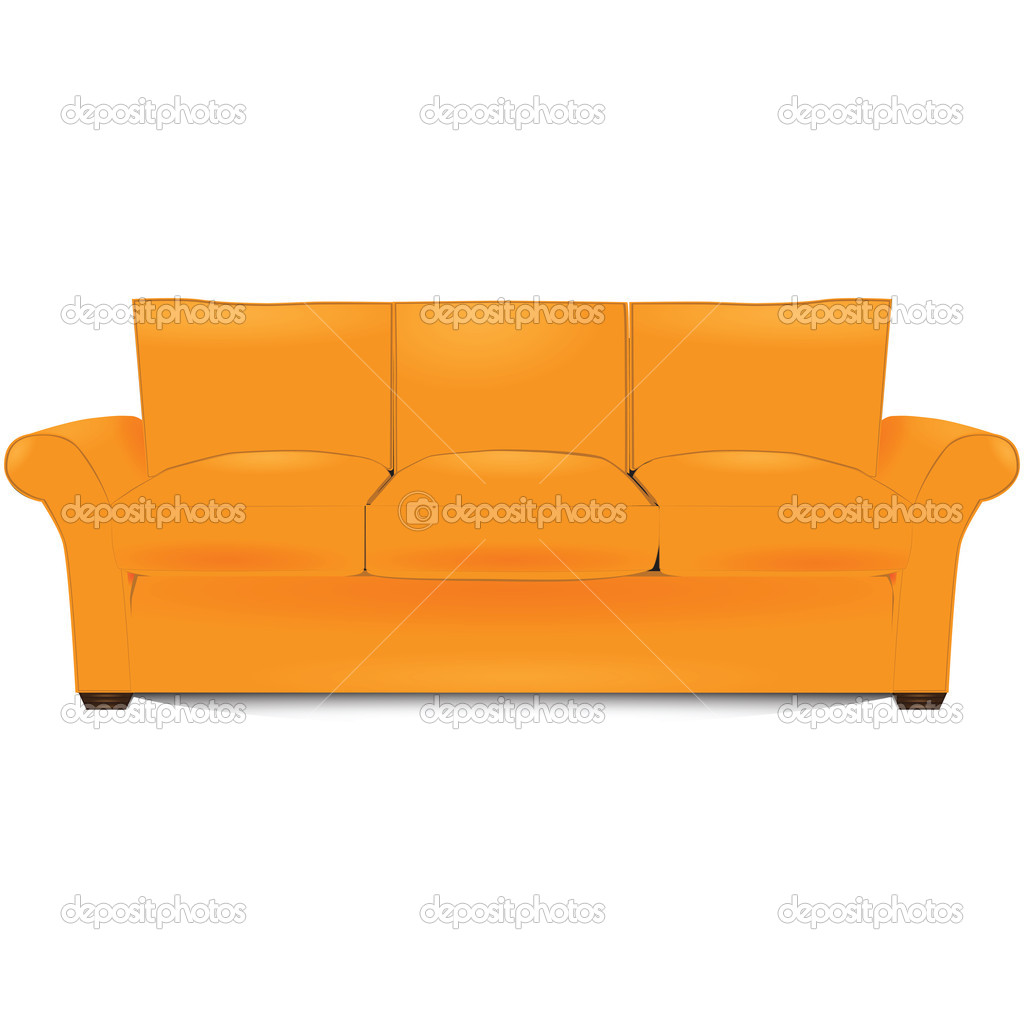 The item of furniture, three-section couch. Vector illustration. — Stock Vector #11153227