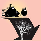 Environmental degradation — Stock Vector