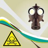 Background toxic danger — Stock Vector
