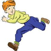 Running child — Stock Vector