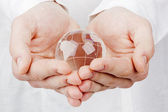 World in Hands — Foto Stock