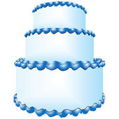 Three tiers of cake — Stock Vector