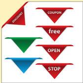Corner labe — Stock Vector