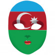 Stock Vector: Mask Azerbaijan