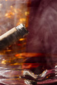 Cigare et le whisky — Photo