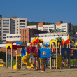 Stock Photo: Children's play area. City Novouralsk. Sverdlovsk region.