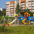 图库照片: Children's play area. City Novouralsk. Sverdlovsk region.
