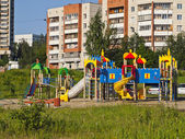 Children's play area. City Novouralsk. Sverdlovsk region. — Стоковое фото