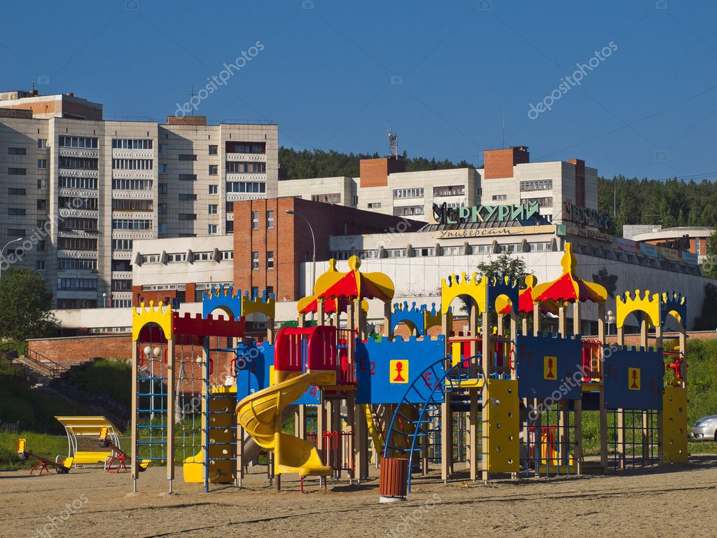 Children's play area. City Novouralsk. Sverdlovsk region. — Stock Photo #11168580