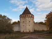 Tower of ancient russian monastery — Stock Photo