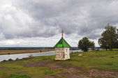 La capilla de los bancos theoka, rusia — Foto de Stock