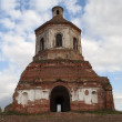Ruined church in Gari village, Russia — Stock Photo