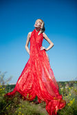 Scarlet gown — Stockfoto