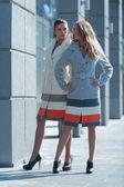 Show trendy overcoats — Stock Photo