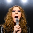 Singing rock song — Stock Photo