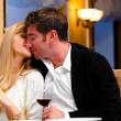 Couple at restaurant — Stock Photo
