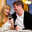 Couple at restaurant — Stock Photo #10785173