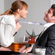Flirting at office — Stock Photo #10785446
