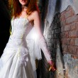 Trash the dress woman — Stock Photo