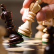 Wooden chess pieces — Stock Photo #12207311