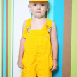 Boy child builder — Stock Photo