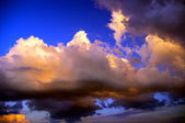 Thunderclouds of a coming nearer storm — Stock Photo