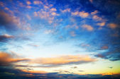 Cloudy sky in the sunset — Stock Photo