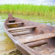 Boat on the bank of lake - Stock Photo