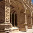 Detail of gallery in Jeronimos monastery, Belem. Lisbon - Stock Photo